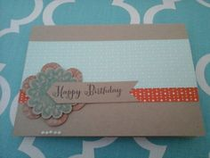 (Stampin' Up Products) Happy Birthday Cards, Stampin Up, Card Making, Frame, Products, Decor, Decoration, Decorating, A Frame