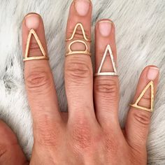 Triangle Point Handmade Rings - Geometric Rings - Brass, Sterling Silver, Bronze, Gold Plated by AURAVEDASF on Etsy