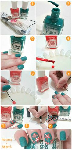 Beach Ready Mani Tutorial With Sally Hansen at Walgreens! #IHeartMyNailArt #cbias #shop