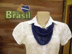 Receitas de Trico e Croche: Lenço sicília em tricô Programa Arte Brasil com Claudia Maria
