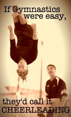 If gymnastics were easy...