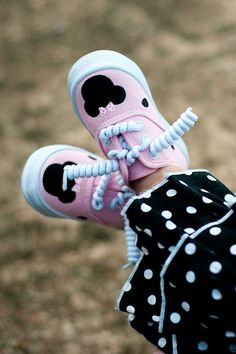 hand painted shoes  Children's shoes  Pink  Minnie by Snanimals, $25.00
