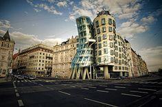 "Nationale-Nederlanden (nicnamed ""The Dancing House"" (Tančící dům) or the ""Ginger and Fred"" House – Prague, Czech Republic"