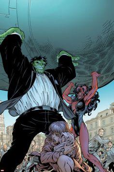 Incredible Hulks #628: Hulk and Red She-Hulk Cover By:Tom Grummett