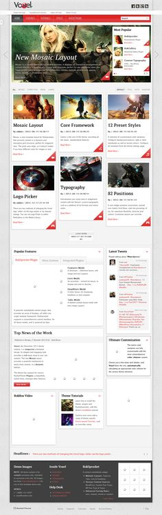 """Voxel"" the #Wordpress theme release is a elegant #magazine orientated design."