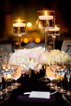 Floating candle wedding centerpiece. & 302 best Candle Wedding Centerpieces images on Pinterest | Wedding ...
