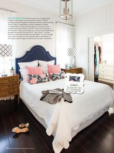 Navy Fleur Chinoise & Pink City Maze in Australia's Home Beautiful | Styling by Lauren Pearse