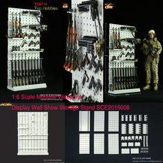 1//6 Scale Modular Weapons Shrot Wooden Display  Storage Stand Gun Rack Model