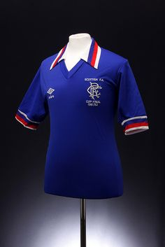 Glasgow Rangers Football Shirt (Scottish FA Cup Final 1981/1982)