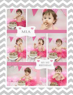 Cake Smash, Birthday, Frame, Girls, Photography, Photo Shoot, Picture Frame, Toddler Girls, Birthdays