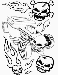 Hot Wheels Coloring Pages - Set 4. A huge collection of Hot Wheels coloring pages. #hotwheels #coloringpages