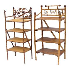 English Bamboo Shelves | 1stdibs.com