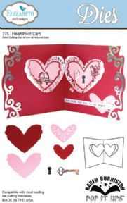 775 ~ HEART PIVOT CARD ~ POP IT UP ~ Dies by Elizabeth Craft Designs