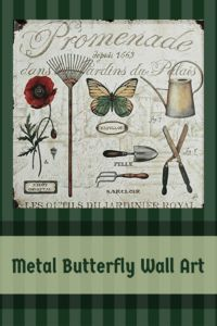 Metal butterfly wall decor is super trendy right now and especially during the spring and summer months.  These are great for a backyard, patio or garden.  Metal Butterfly Wall Art - Metal Butterfly Home Wall Art Decor