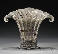 Tiffany & Co. Sterling Fan-shaped Flower Vase, 1902-1907