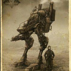 Voidships Steam Walker by Mark Molnar