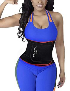 d820e683cf YIANNA Hourglass Waist Trainer Trimmer Slimming Belt Hot Neoprene Sauna  Sweat Belly Band Weight Loss Body Shaper Back Support Sport Girdle