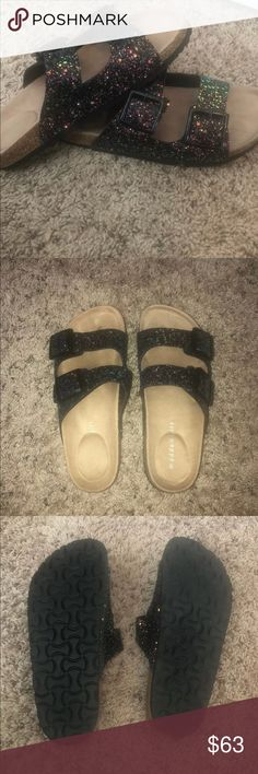 f759f88671c Like New Madden Girl Strappy Sparkly Sandals Like New Madden Girl Strappy  Sparkly Sandals. Worn once. No damage or scuffs. All gems in…