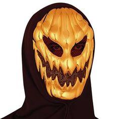 Evil Gold Pumpkin Mask - 368243 | trendyhalloween.com