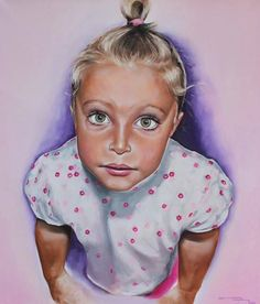 """Oil painting By Rebecca Tecla """"Vicky"""""""