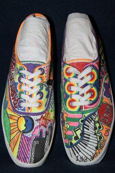 Custom Made Sharpie Shoes by FarrahsFlair on Etsy, $45.00