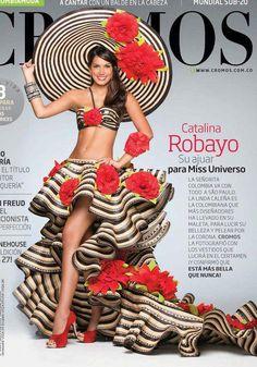 Miss Colombia's super stylish dress & hat