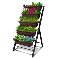 Read reviews and buy Outland Living 4-Ft Vertical Raised Garden Bed - 5 Tier Food Safe Planter Box for Outdoor and Indoor Gardening at Target. Choose from contactless Same Day Delivery, Drive Up and more. Greenhouse Gardening, Garden Planters, Indoor Gardening, Container Gardening, Cedar Raised Garden Beds, Garden Frame, Plant Labels, Farmhouse Garden, Planter Boxes