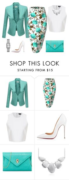 """""""flower skirt"""" by natalyag ❤ liked on Polyvore featuring J.TOMSON, Urban Originals, Blue Nile and Timex"""