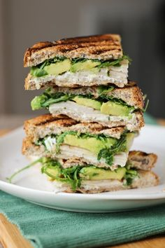 Turkey, Avocado, & Goat Cheese Panini by onceuponacuttingboard #Sandwich #Panini #Turkey #Avocado #Goat_Cheese
