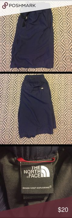 Men's Gently Worn Northface Shorts Great condition ; navy blue! Make me an offer ! North Face Shorts Athletic