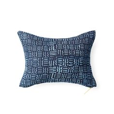 Indigo CXXVII - Lumbar Pillow Lumbar Pillow, Throw Pillows, Elizabeth Street, In Ancient Times, West Africa, The Prestige, Indigo, Pillow Covers, Fabric