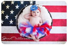 Fourth of July Tutu Red White Blue Flower by CandyCurlsBowtique, $28.00