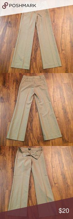 Beige trousers Sleek, beige, somewhat wide leg pants Ann Taylor Pants Trousers