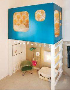 Na coluna ISTO É BACANA de hoje :  Dormir nas alturas .  Otimiza o espaço e as crianças A.D.O.R.A.M !!  No blog, outras fotos para sua inspiração:  http://pakatutti.blogspot.com.br/2012/12/nas-alturas.html