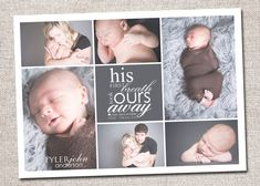 Baby Birth Announcement Printable (First Breath baby announcement collage)