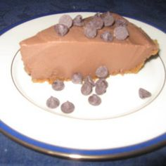 Chocolate-Peanut Butter Mousse Pie  vegan, plantbased, earth balance, made just right