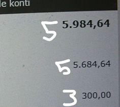 Denne indkomst på 55. 984,64 Kommer være måned ind på min konto