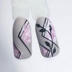 Make an original manicure for Valentine's Day - My Nails Diy Nails, Cute Nails, Pretty Nails, Cute Nail Art Designs, Nail Art Wheel, Feather Nails, Elegant Nail Art, Geometric Nail, Flower Nail Art