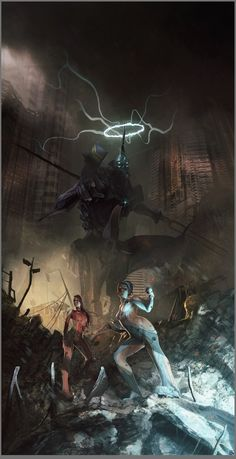 From the artist Brad Wright, and it's called EVA Unit 11. I just love the epic gritty Badassery of this image.
