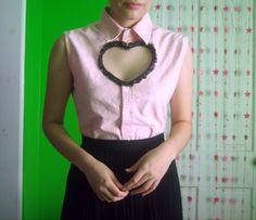 Cut out heart shirt