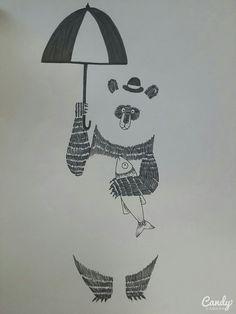 Panda  Pen illustration Gestalt 2015.05