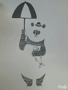 Panda  Pen illustration Gestalt 2015.05
