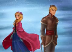 Anna and Kristoff by Arbetta.deviantart.com on @deviantART