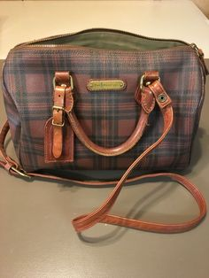 047c2f03e awesome POLO RALPH LAUREN Vintage Handcrafted Men's Plaid Toiletry Travel  Bag w/Leather Check more