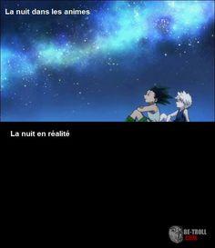 La nuit dans les animes... - Be-troll - vidéos humour, actualité insolite
