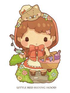 Fairy Tale Mood - Posts tagged little red riding hood Kawaii Chibi, Cute Chibi, Kawaii Art, Anime Chibi, Kawaii Anime, Anime Art, Cute Animal Drawings Kawaii, Cartoon Drawings, Cute Drawings