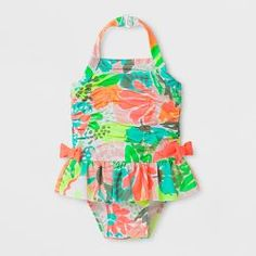 63ab3d4a2c Baby Girls' Floral One Piece Swimsuit - Cat & Jack™ Coral == Cute  SwimsuitsCoral ...
