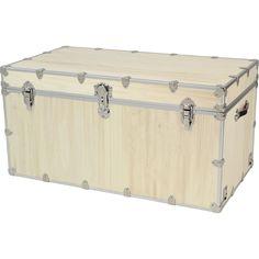 New Rhino Storage Trunk Footlocker 48x26x24for Camp, College U0026 Dorm. USA  Made #Rhino