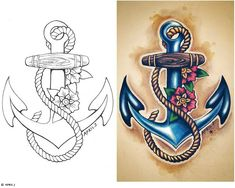 I love anchors and if I ever get a tattoo it will be an anchor with a hibiscus wrapped around it.