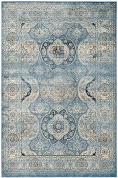 PGV611F Rug from Persian Garden Vintage collection.  The classic design of antique Persian rugs is treated to a designer-look, distressed patina in these marvelously imaginative area rugs. Traditional motifs drenched in a rich classic color palette peek through a subtle, vintage veil that imparts contemporary styling on Old World rug making artistry. The fusion of then and now creates a smart, sophisticated look ideally suited for traditional or transitional decor preferences.